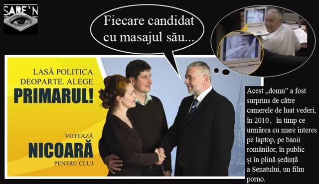 Marius Nicoară - un politician familiarizat cu diferența dintre masaje (pardon, mesaje): al lui este pe bani publici.