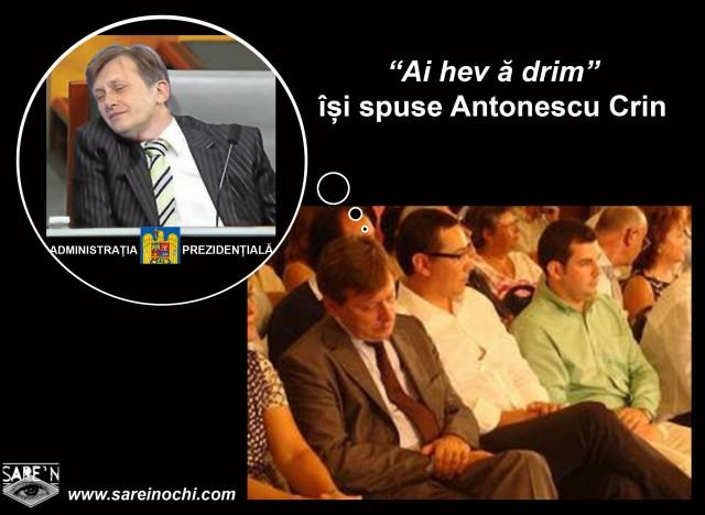 crin antonescu-dormind in scaun