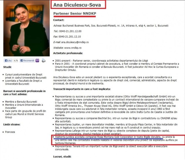 Ana Diculescu-Șova – apărătorul companiei Roșia Montana Gold Corporation – mămica fiului ei Dan Coman-Șova, cel care apără interesele statului român în afacerea apărată de…mămica lui.