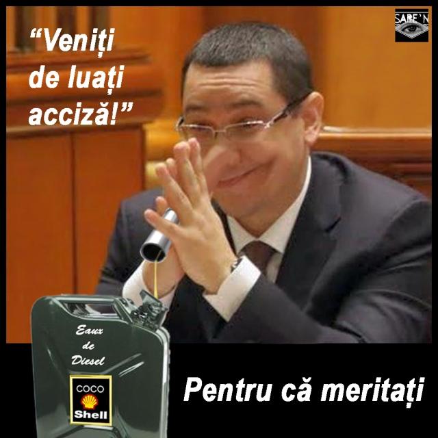 Victor Ponta veniti de luati acciza